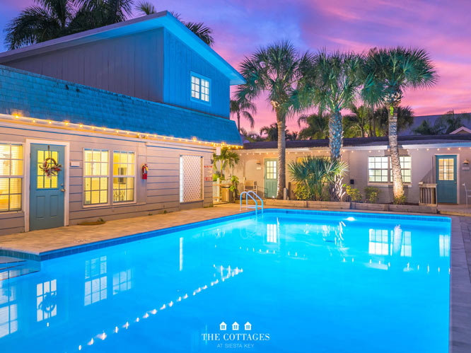 Twilight The Cottages at Siesta Key